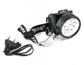 фонарь TG9 налобный 4V0.9Ah, 9xLED, ЗУ 220V,